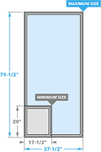 size chart for impervia casement window